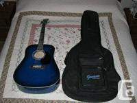 JAY Model 6 String Acoustic Guitar. Directly signatured