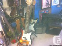 aquistic and electrical guitars for sale, and 3