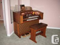 A 1979 Gulbransen organ in beautiful condition. It's