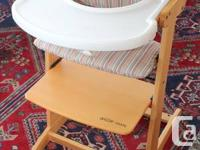 Guzzie & Guss wooden highchair with removable seat
