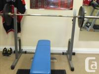 OLYMPIC WEIGHT STACK - $30.00 INCLINE LEG PRESS WITH 2