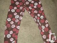 Gymboree Brown 'Roses' Gymboree  Full length leggings