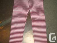 Gymboree basic full length Red and White Striped