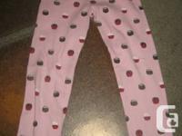 Gymboree basic full length Pink Cupcake Leggings  - 5T