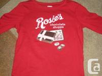 Gymboree Red 'Rosie's Chocolate Shoppe' -  long Sleeved