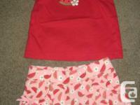 Gymboree Watermelon Spring Summer Outfit Set - 2T and