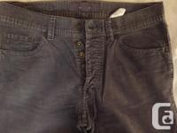 H&M Medium blue 33 x 32 ways corduroy jeans. Switch fly
