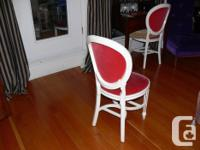 H. Krugh Red Oval Back Chair (circa 1950's) is