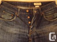 """H&M Men's """"Bragg"""" Straight fit with fitted waist dark"""