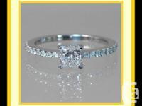 "1.05 CT T.W. ""G"" PRINCESS CUT DIAMOND INVOLVEMENT RING"