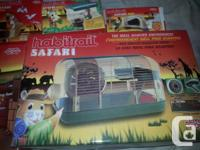 Habitrail brand hamster cage and accessories have been