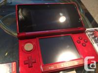 here im selling an red Nintendo 3DS. in wonderful