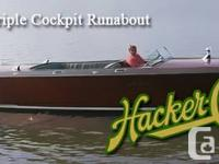 Extremely rare 1930 -- 1932 38 ft Hacker Craft in top