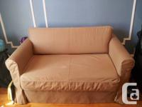 This sofa futon bed is only 4 months old, the covers on