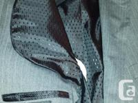 Selling a mint condition suit in Grey with blue stripes