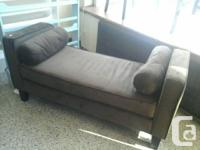 Brand new hall sofa finished in dark chocolate, can be