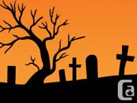 Three brand-new Halloween Styrofoam Tombstones, one