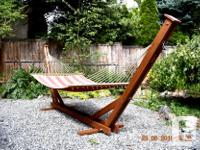 Local, made to order full size hammock stands. Hand a