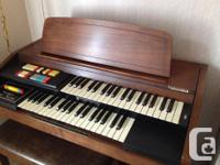 Hammond Double Keyboard Chord Organ with Bench Romance for sale  British Columbia