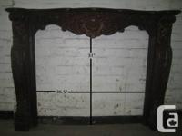 Solid Wood Hand Carved Fire Place Mantle  Over 50% OFF
