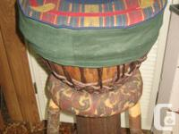 This lovely djembe drum was made on a Gulf Island, hand