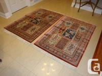 Three beautiful hand made silk persion rugs, two of