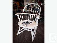 Hi, For sale is a shabby chic hand painted rocking