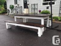 We make these tables and benches and can make one in