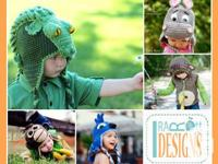 Animal hats - Monster Hats - Crochet Patterns by