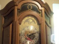 this grandfather clock was handmade in german and in