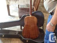GUITAR MADE BY MELL COLLICUT OF SUMMERSIDE BOUGHT NEW