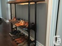 I'm selling a custom handmade live-edge entryway table,