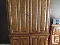 Computer Armoire  �Mennonite handmade 100% oak  �