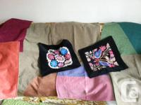 12 pillow covers handmade in Istanbul from wool cotton