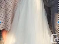 Beautiful handmade wedding dress. Just had it dry