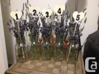 Used once for a wedding. Placed them in ball mason jars