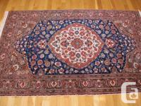 Authentic Turkish Double Knot Wool Rug fr Kayseri