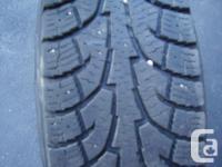 Hankook RW11 iPike winter tire, LT235 /80R17 mounted on