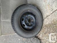 Wintertime tires on rims. Chevy Sprint. Used 1 or 2