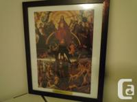 Beautiful print of the main portion of Hans Memling's