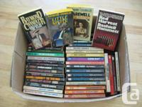 Over 40 paperbacks of the works of Dashiell Hammett,