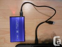 """Hard Disk Drive HDD with USB 2.0 2.5"""" SATA Case Shell"""