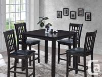 """Hardwood 36"""" x 36 """" counter height(36"""") dining table"""