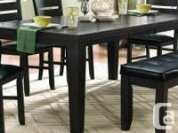 "Large Hardwood dining table with 18"" hidden butterfly"