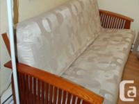 Sturdy hardwood sofa bed frame. Quality, durable fabric for sale  British Columbia