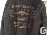 Grey Harley bomber jacket for sale. Ladies large or