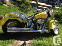 2000 Fatboy Custom 90000 km on bike, only 10000 on
