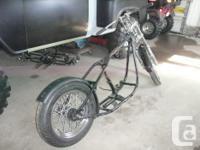 Harley Davidson hard tail bobber roller, narrow glide