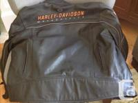 Large leather riding jacket. The dual purpose, riding