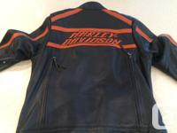 In NEW condition Harley Davidson Leather Riding Jacket